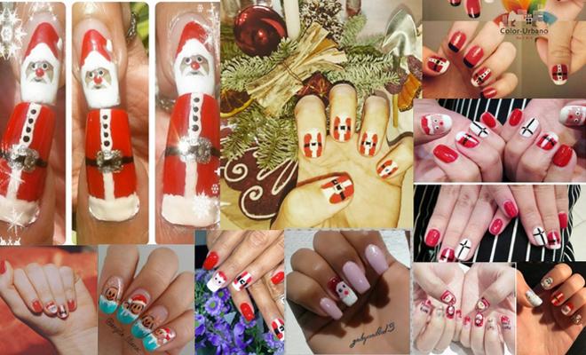 diseño uñas para Navidad