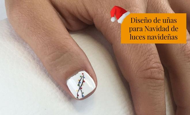 El Diseño De Uñas Más Fácil De Luces De Navidad