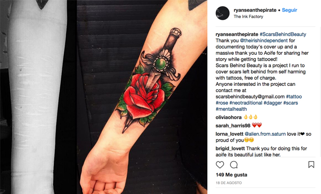 Este es el tatuaje que le ayudó a superar la depresión