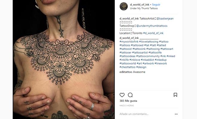 Tatuajes En El Pecho Precauciones Tipos Y Cuidados