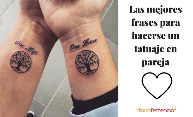 Tatuaje En Pareja Coronas De Rey Y Reina Con Frase De Amor Cosas