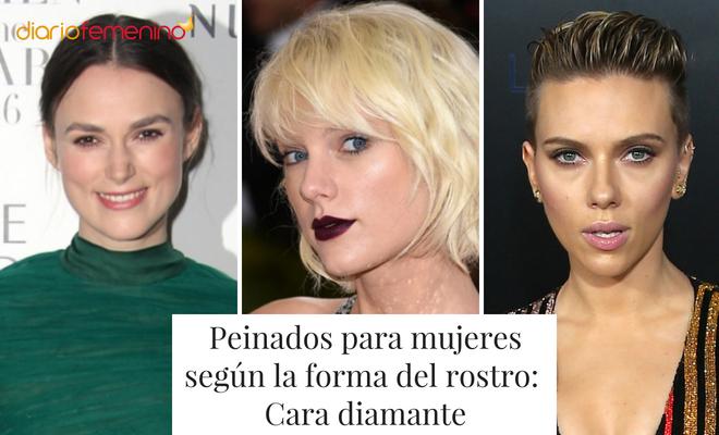 Peinados para mujeres que tienen la cara en forma de diamante