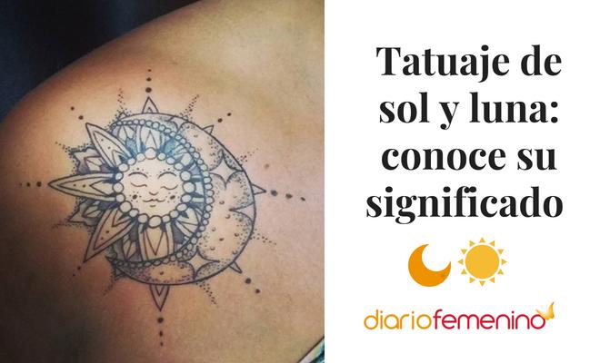 Tatuaje de sol y luna: conoce su significado