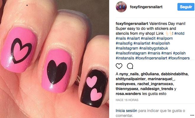 Uñas en San Valentín: diseños románticos con corazones