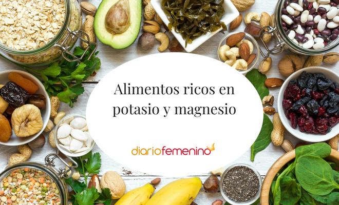 Qu alimentos son ricos en potasio y magnesio - Alimentos en potasio ...