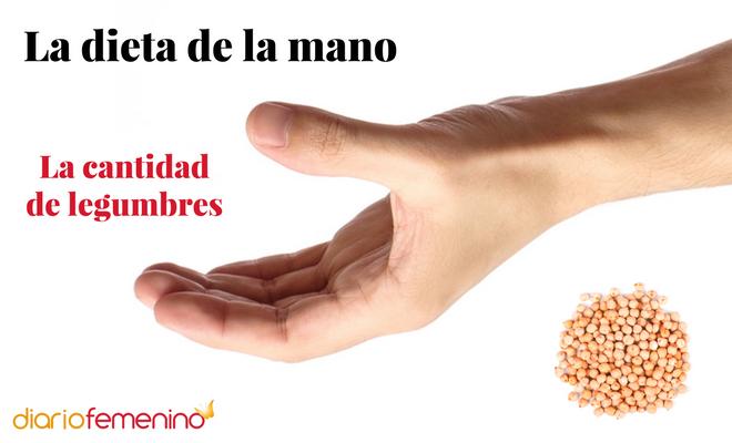 La dieta de la mano y las legumbres