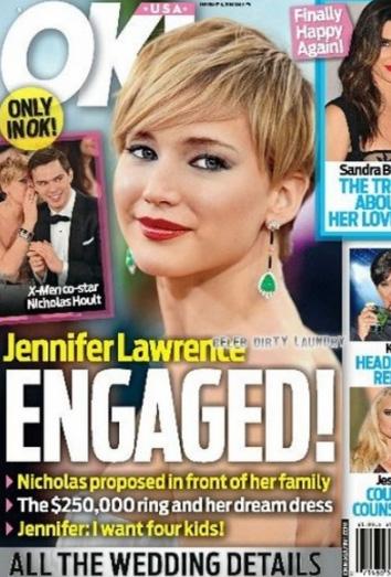 Jennifer Lawrence se casa con Nicholas Hoult.