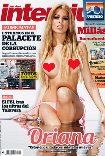 Oriana Se Desnuda En Interviú Pechos Nuevos Pagados Por Telecinco