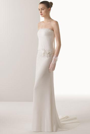 Vestido de novia para casamiento civil