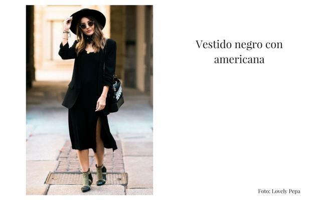Vestido negro con americana