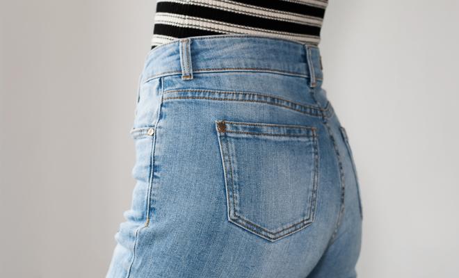 Pantalones altos para las mujeres con curvas