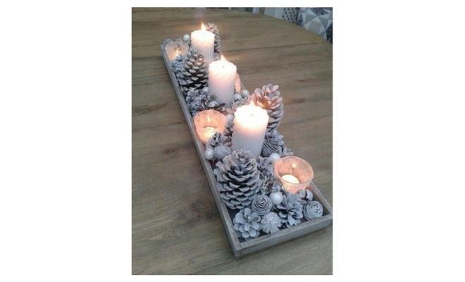 Originales y baratas ideas para decorar tu mesa en navidad - Centros navidenos originales ...