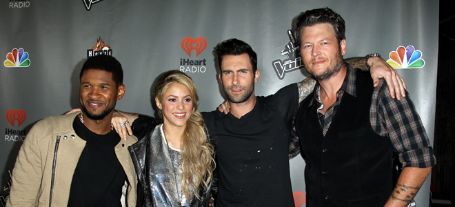 Usher, Shakira, Adam Levine y Blake Shelton, los coaches de 'The Voice'