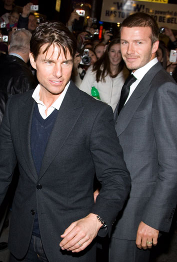 David Beckham y Tom Cruise.