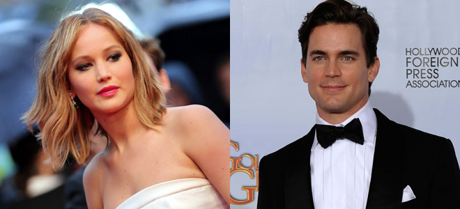 Jennifer Lawrence y Matt Bomer.