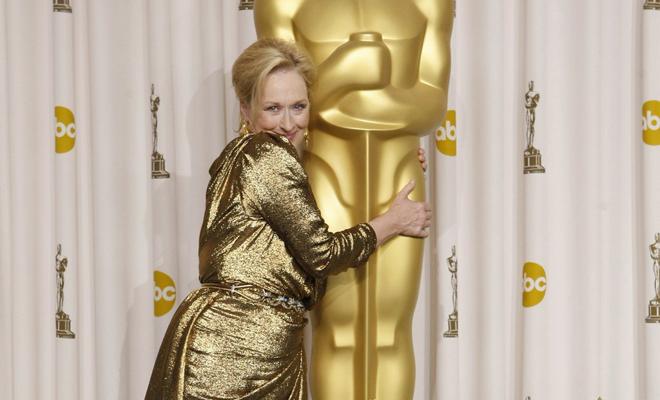 Meryl Streep y su Oscar