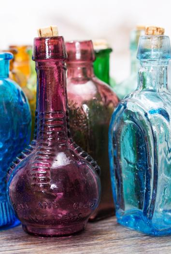 soar con botellas de cristal